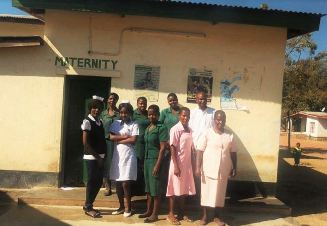 Some of the staff members at Nsanama Health Centre