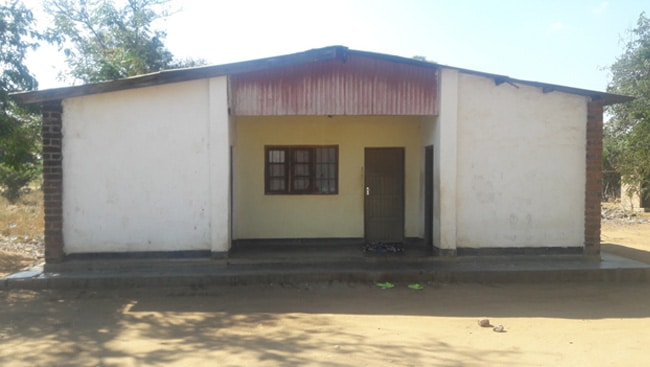 This one of the staff houses at Utale II health being occupied by a nurse.